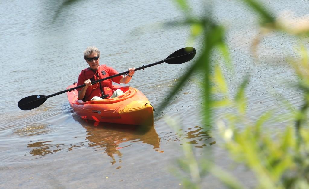 Pennswood Village resident kayaking