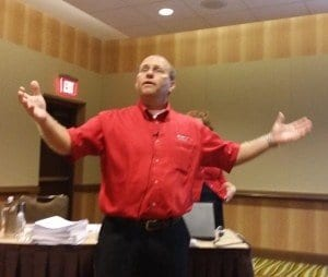 Tim Bracken of Love  & Company, presenting at Florida's LeadingAge conference.