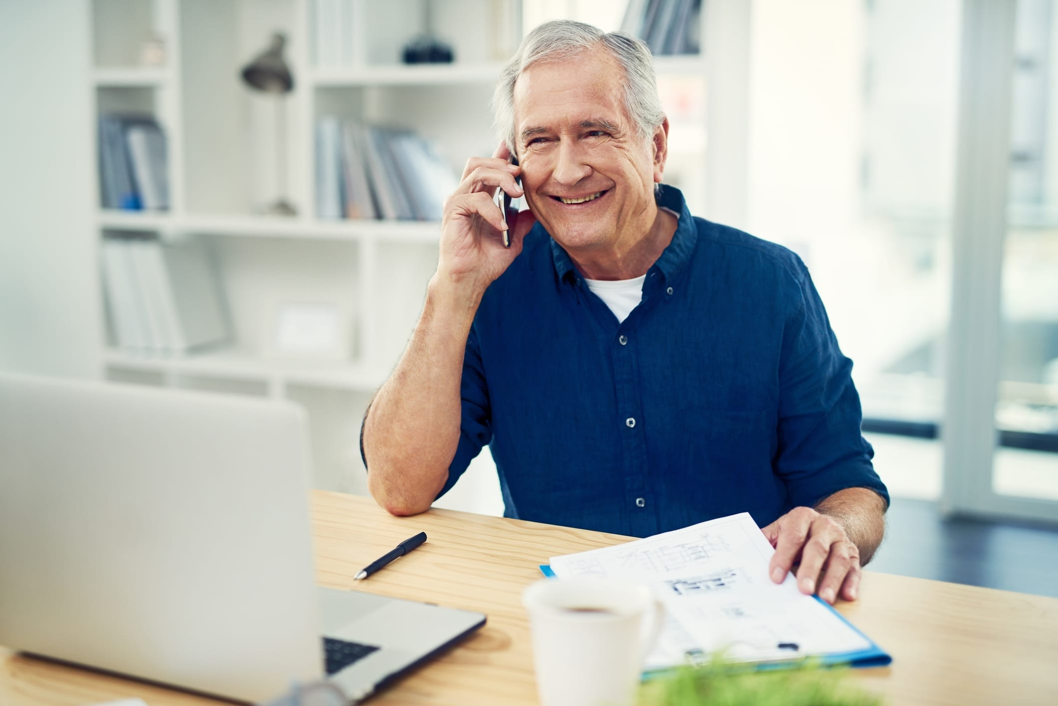 Senior living marketing techniques that work include phone calls when in-person visits are not possible.